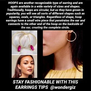 STAY FASHIONABLE WITH THIS EARRING TIPS @wondergiz